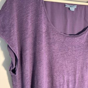 Vince linen silk purple tee shirt